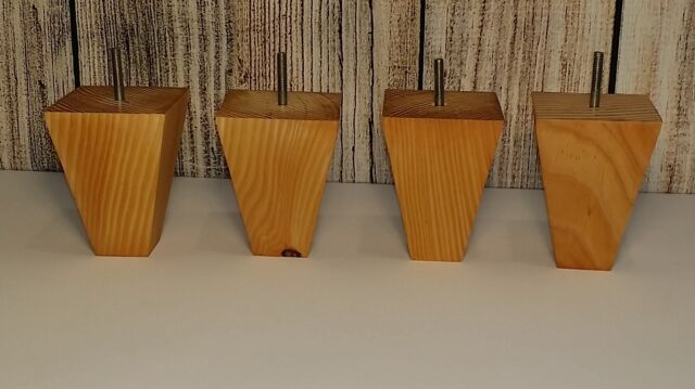 Tapered Wooden Chair Ottoman Feet Set Of 4 Unfinished
