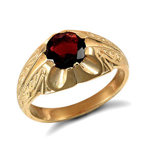 garnet ring men 39 s garnet solitaire ring yellow gold ring. Black Bedroom Furniture Sets. Home Design Ideas