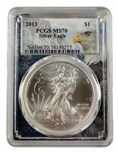 2013-1oz-Silver-Eagle-PCGS-MS70-Eagle-Frame