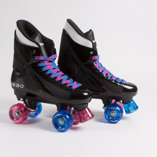 Ventro Pro Turbo Quad Roller S , Bauer Style -  Mixed Pink bluee Ventro Wheels  unique shape