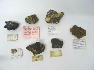 7 Mineralien Hämatit Bornit Antimonit Arsenkies Chrom