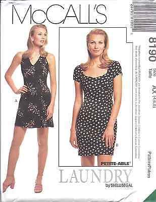 8190 McCalls SEWING Pattern Misses Halter Dress UNCUT Laundry Shelli Segal OOP