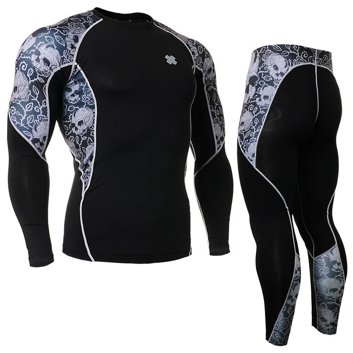 FIXGEAR C2L P2L-B40 Compression Shirts & Pants Set Sportswear MMA Training Gym