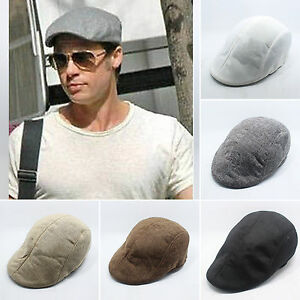 Newsboy-Wool-Gatsby-Cap-Mens-Ivy-Hat-Golf-Driving-Winter-Cold-Flat-Cabbie-Ascot