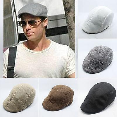 Ivy Newsboy Collection Hat X-JUSEN Mens Auburn Flat Cap Driver Hat Classic Beret Cap