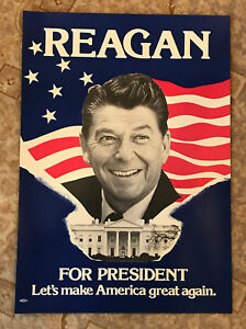 ronald reagan for president poster let s make america great again 15