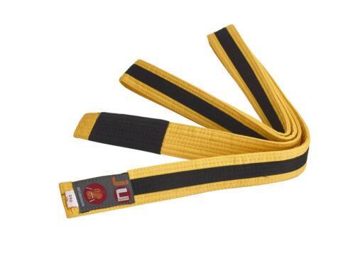 100/% Baumwolle. 4cm breit Ju-Sports- BJJ Kindergürtel 220cm gelb//schwarz