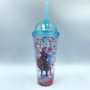 Frozen 2 Glitter Cup Tumbler with Straw 20 oz. AMC exclusive Elsa And Anna