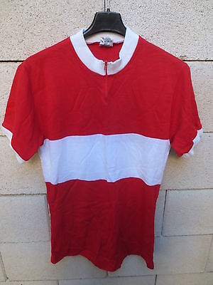Cycling Clothing Sporting Goods Vintage Maillot Cycliste Rouge Blanc Kopa Heurtefeu Oldschool Ancien 80's Shirt Modern Techniques