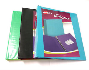 avery 1 3 ring binders durable dual color 220 page ebay