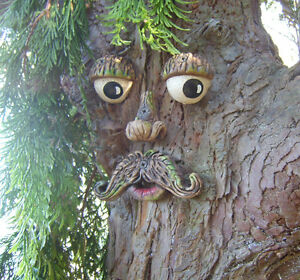 Image Is Loading Large Tree Face Garden Ornament Sculpture Statue Outdoor