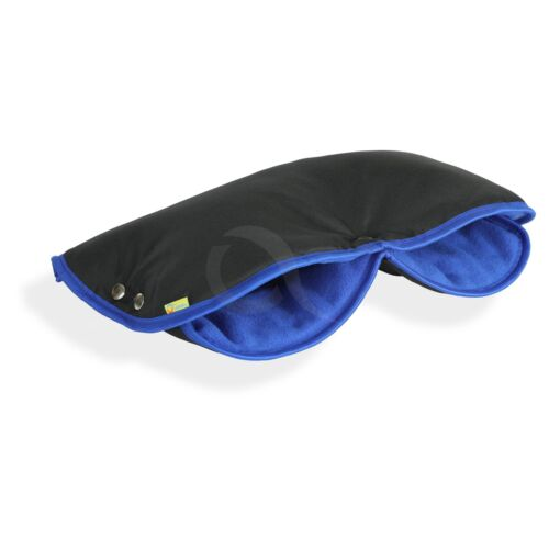PRAM PUSHCHAIR BUGGY HAND WARMER MUFF Handmuff FLEECE black//blue