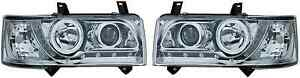 VW-TRANSPORTER-T4-90-03-CROMO-Drl-Faros-Proyectores-Iluminacion-Luz-Pieza