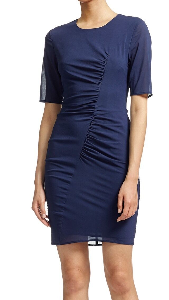Whistles dress bodycon New With Tags Größe 8 Navy Paid  short sleeve gatherot
