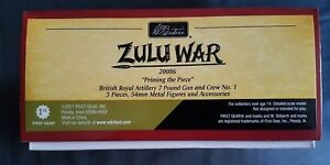 Britains 20086 Guerre zouloue apprêtant la pièce Ensemble d'équipes d'artillerie royale britannique