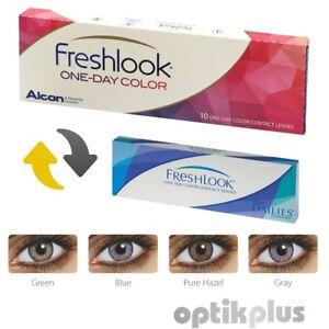 Farbige Tageslinsen - Verkaufsrabatt 50-70% 10er-pack WohltäTig Freshlook One-day Color 9954