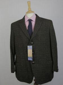 Dettagli su Harris Tweed Blazer Giacca Da Uomo Sportivi 44 tessuti a mano marrone check anni'80 vintage mostra il titolo originale