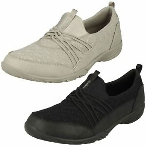 e43ec8e5e43 Ladies Skechers Empress - Wide Awake 23120 Natural Or Black Slip On ...