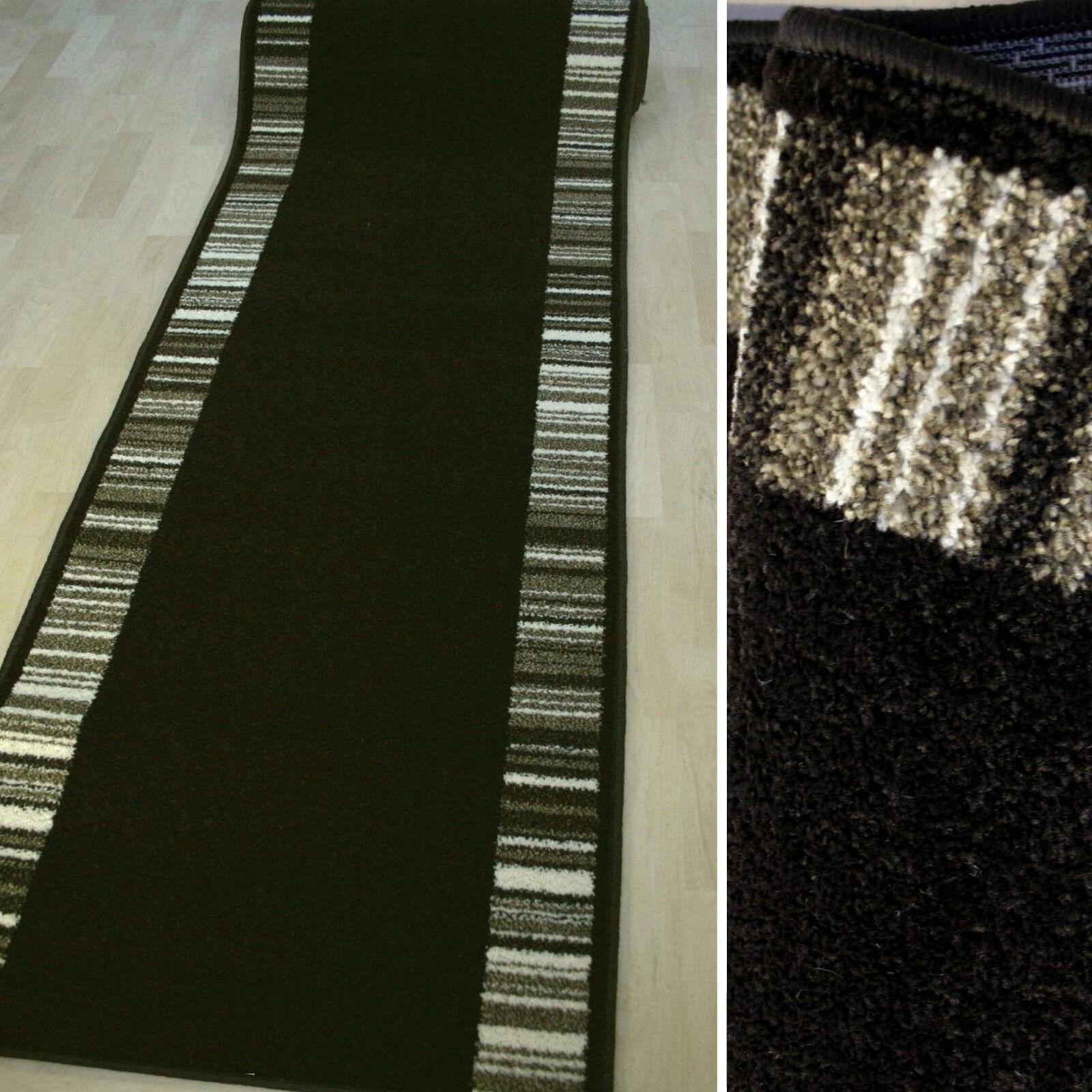 Dettagli su tappeto alfiere  CASA GALAXY  Marronee Scuro 67 cm di larghezza tessuti Frisè L