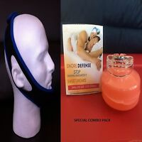 Stop Snoring Chin Belt Strap + Anti Snore Mouthpiece Guard Sleep Combo Women Box