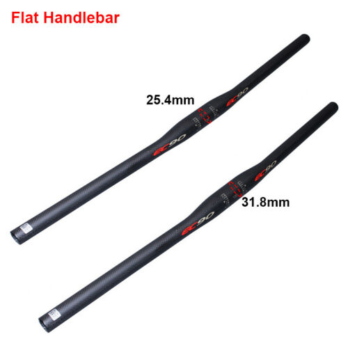 US MTB//DH Bike Handlebar 25.4//31.8mm*660-780mm Carbon Fiber//Aluminum Riser//Flat