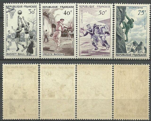 SÉRIE SPORTIVE - 1956 YT 1072 à 1075  - TIMBRES NEUFS** LUXE