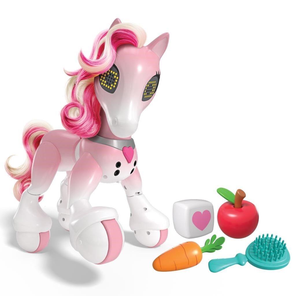 Zoomer Interactive Show Pony Horse; NYA Parader Prances spelas Train Feed