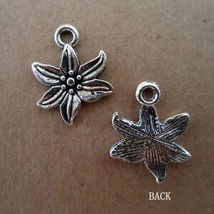 20pcs-Tibetan-Silver-Beads-Charms-flowers-retro-Accessories-Wholesale-PJ52
