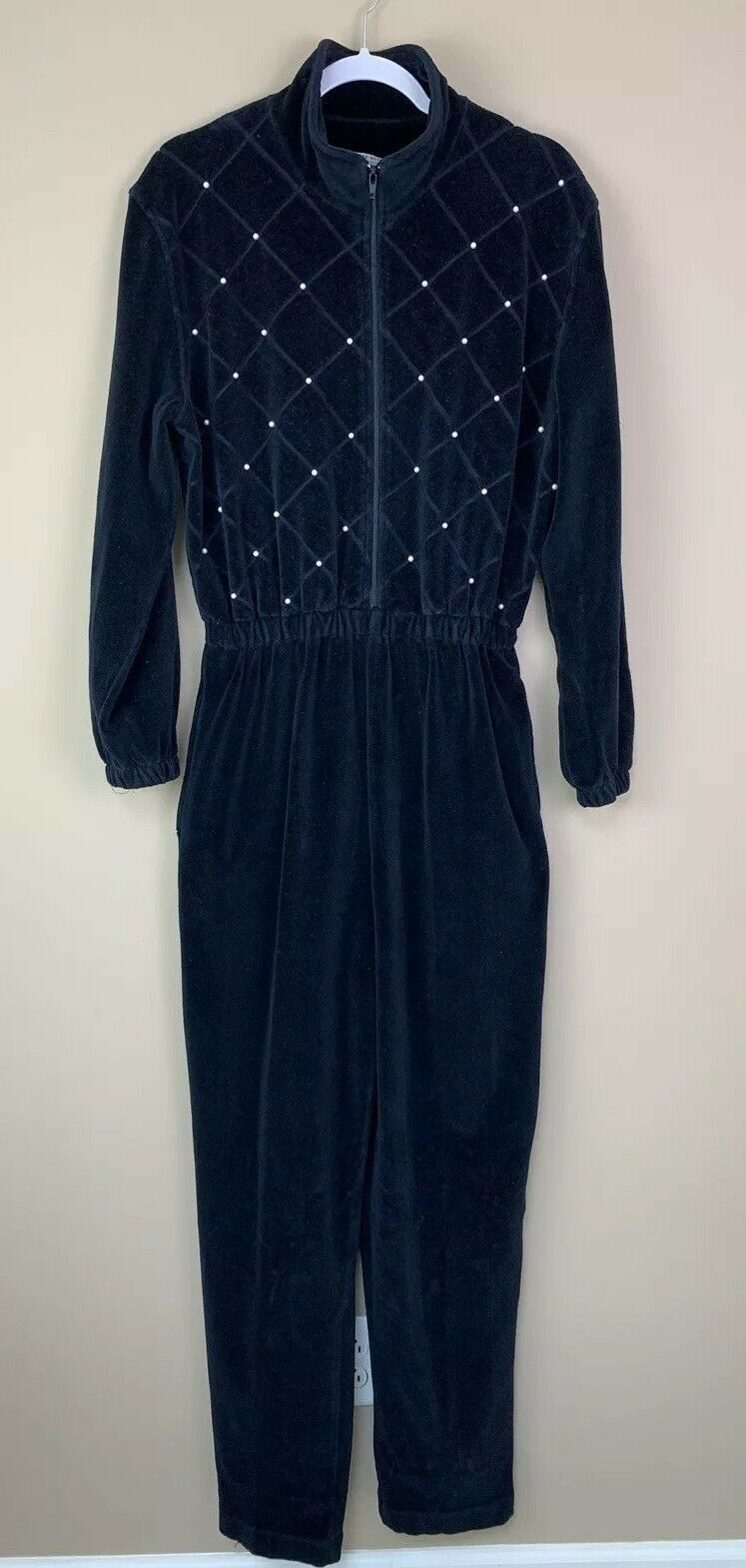 Vintage 80's-90's Saks Fifth Avenue Folio Collection Navy Jumpsuit Size Large
