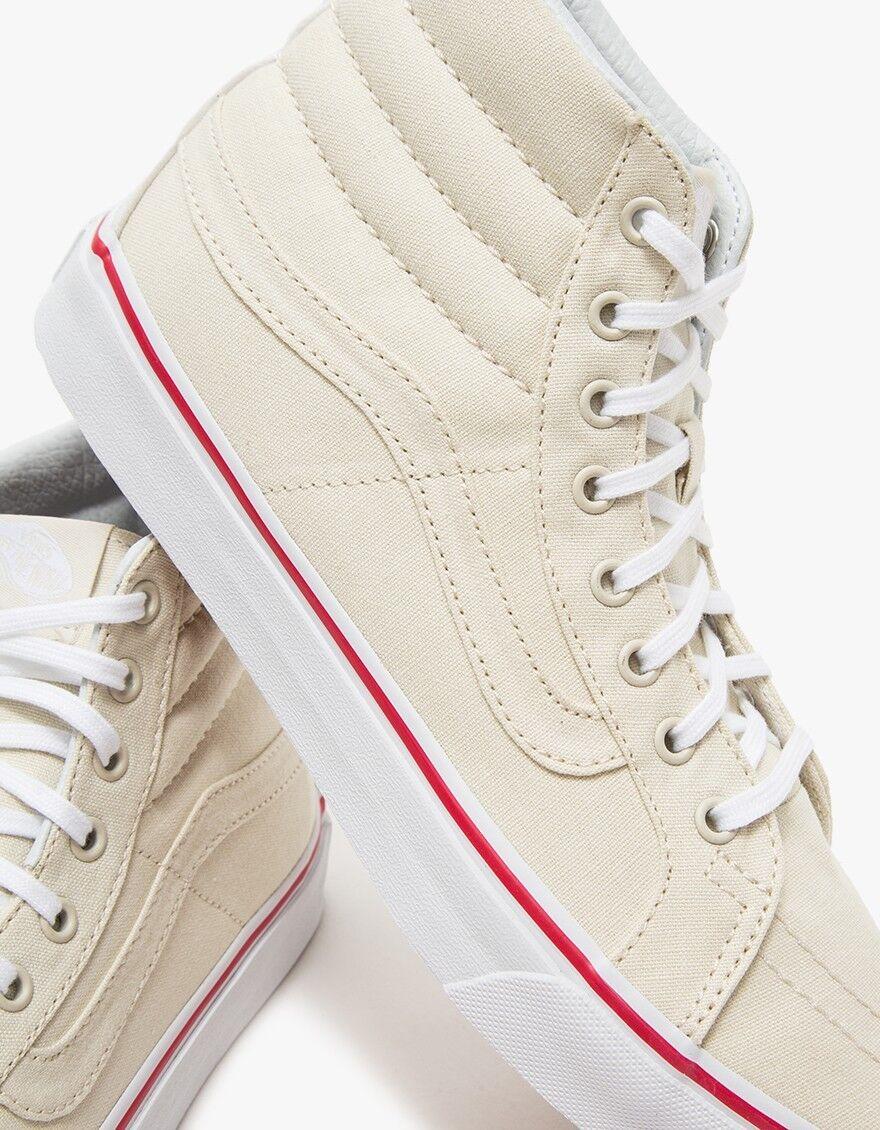 Vans Wall Sk8 Hi Slim Off The Lona blancooo Hueso Verdadero Zapatos para hombre 7.5 mujeres 9