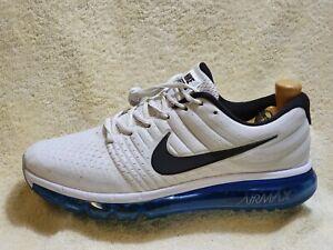 País Todopoderoso Compulsión  Nike Air Max 2017 Zapatillas para hombre Blanco/Negro/Azul Reino Unido 9  EUR 44 | eBay