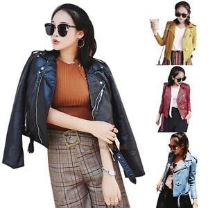Fashion-Vintage-Women-Slim-PU-Leather-Jacket-Biker-Motorcycle-Coat-Zipper-Tops