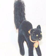STEIFF VTG BLACK CAT HALLOWEEN DOLLHOUSE MINIATURE ARCHED TAG HOME PLUSH FIGURE