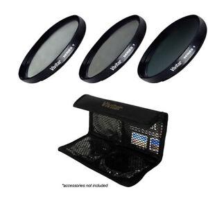 Vivitar Filter Kit UV Circular Polarizer FLD 95mm for Nikon Nikon 200-500mm Lens