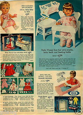 Advertising Sincere 1965 Paper Ad Ideal Baby Nancy Betsy Baby Tearie Dearie Thirdtee Tears Nurse Durable In Use Other Collectible Ads