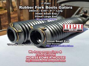 30mm Black Rubber Fork Boots Gaiters Gators @ 2002-2018 Kawasaki KLX110 KLX110L