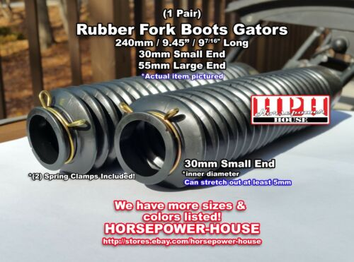 30mm Rubber Fork Boots Gators Gaiters 70s Yamaha RT2 RT3 TX500 TX650 TY250 XS650