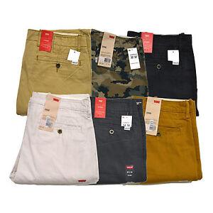 Levis-Chinos-Flat-Front-Mens-Pants-Casual-Regular-Fit-Khaki-Pockets-Pant-New-Nwt