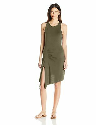 Clementine Apparel Women's Casual Scoop Neck Sleeveless Cami Tank Tunic Top Slit