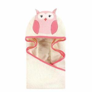 Hudson Baby Animal Face Hooded Towel, Modern Owl
