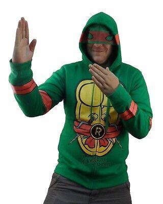 Teenage Mutant Ninja Turtles Raphael Costume Licensed Zip Up Hoodie S-XXL