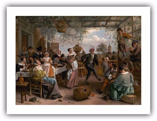 "— Giclee Fine Art Print 1663 /""The Dancing Couple/"" Jan Steen"
