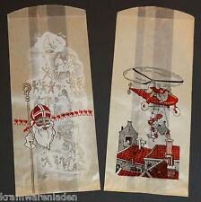 2 antiche sacchetti di carta Natale/Babbo Natale/Nero Peter-cintura Piet