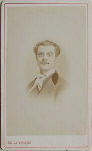 Emile Tourtin Rouen Francia Carte de visite CDV Foto Vintage Albumina