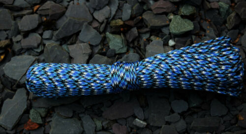 50 /& 100 ft*** NOW 93 COLOURS; listing 1 of 2 +***Paracord 550 7 strands 25