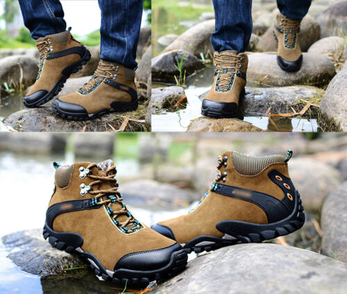 Men/'s Outdoor Suede Hiking Hunting Camping Climbing Waterproof Ankle Boots Shoes