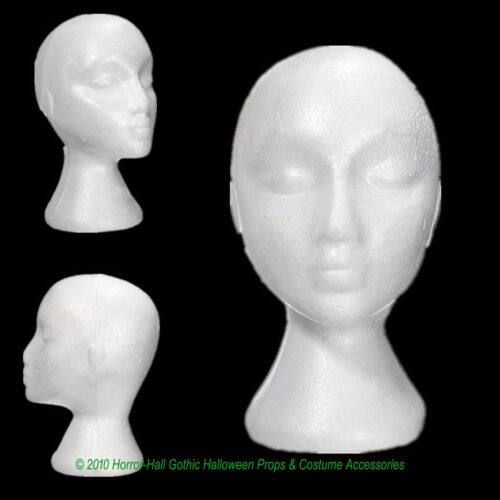 12pc LOT-Prop Building Supply-MANNEQUIN HEADS-Halloween Costume Mask Wig Display
