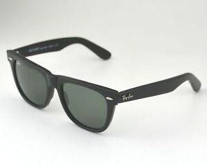 7487acaf3f492 Ray Ban RB 2140 Original Wayfarer 901 Black Frame  Green Classic G ...