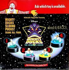 1997 McDonalds Mighty Ducks MIP Complete Set - Lot of 4, Boys & Girls, 3+