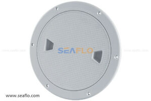 """SEAFLO 6"""" Marine Screw Out Deck Plate Inspection Hatch Plastic Access Boat RV"""